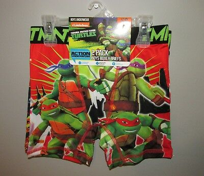 Boys 2 PACK TMNT Boxer Briefs, Size Small (6) - BRAND NEW W TAGS