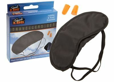 Soft Padded Blindfold Eye Mask Travel Sleep Aid Shade Cover Unisex Ear Plugs