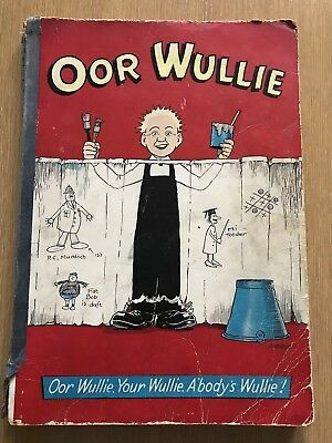 Oor Wullie 1958 Rare Comic Annual in Reasonable Condition