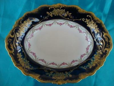 FINE ANTIQUE FRENCH LIMOGES PORCELAIN (C. Ahrenfelot) HAND PAINTED OVAL DISH.#1.