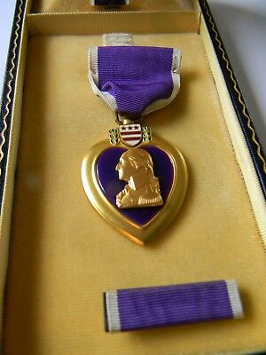 World War 11 Purple Heart With Original Box