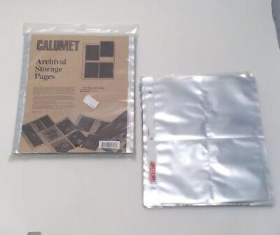 NEW CALUMET ARCHIVAL STORAGE PAGES 4x5 FILM CHROMES NEGATIVES SLEEVES 189 Qty