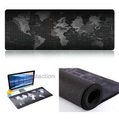 Keyboard World Map Gaming Mauspad XXL - Anti-Rutsch Mousepad (800 x 400 mm)