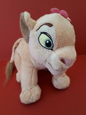 """Nala Soft Toy Lion Cub from The Lion King Disney Store 7"""" Plush with Flower"""