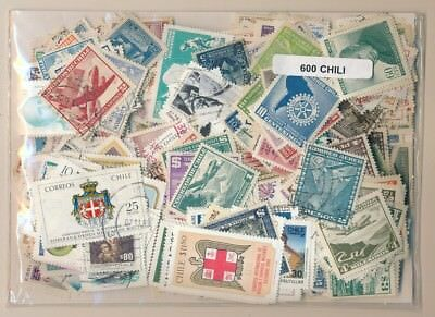 Chile US 600 stamps different