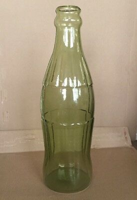 20 inches tall Coca-Cola Style Contour bottle type glass piggy bank RARE BLANK