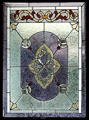 """""""MAXIMILIAN"""" Large Stained Glass Hanging Panel (or Window Insert ) - 37"""" x 27"""""""