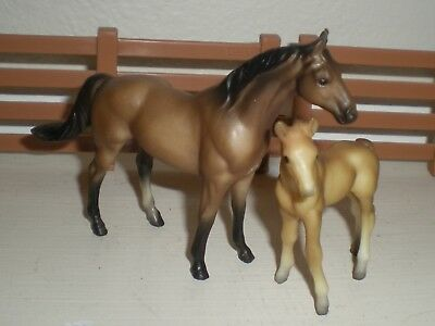 Breyer Stablemates Horse & Foal G1's. Displayed, Beautiful Condition!
