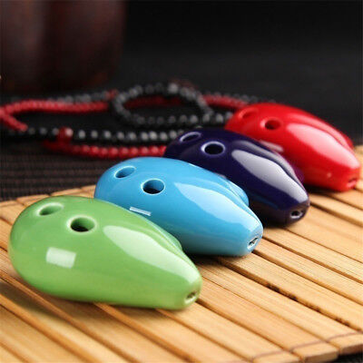 Pendant Mini Soprano Ceramic Kid's Toy Flute Ocarina Ceramic 6 Hole C Key