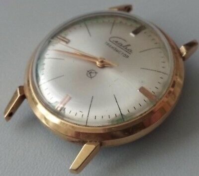 Sell very rare watch slava tranzistor camerton gold plated