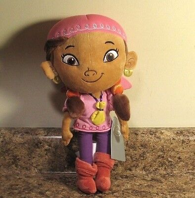 "Disney Store Izzy Plush Doll 13"" Jake And The Neverland Pirates NWT"