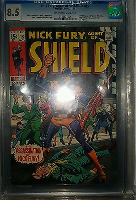 Nick Fury Agent of Shield 15 cgc 8.5 1st appearance and death of Bullseye