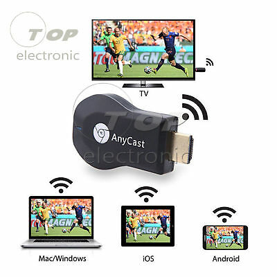 AnyCast WiFi Display Dongle Receiver 1080P HDM TV Stick DLNA Airplay Miracast