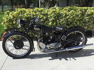 1936 Other Makes RUDGE  1936 RUDGE ULSTER MOTORCYCLE BLACK 500cc