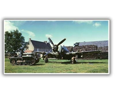 P-47 in France. 1944 WW2 Word War Photo Glossy  3*8 inch L