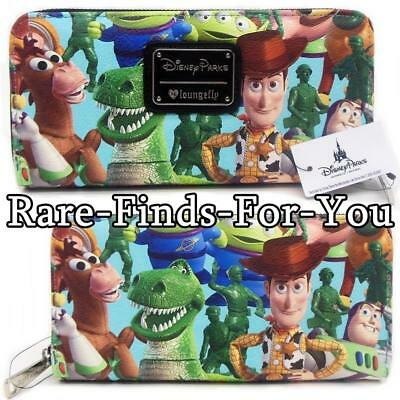 Disney Theme Parks Pixar Toy Story Characters Zip-Around Wallet by Loungefly NEW