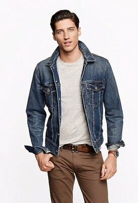 810317abd625 NEW SZ XL J. CREW Men's Classic Denim Jacket Blue 47072 - $115.20 ...