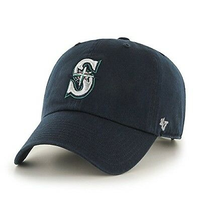 MLB Seattle Mariners '47 Brand Navy Basic Logo Clean Up Home Adjustable Hat