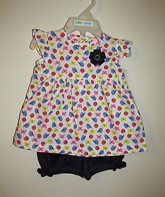 Carters Girls 2 Piece Summer Outfit (Size 0-3 M) BRAND NEW W TAGS