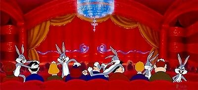 Rare Bugs Bunny Warner Brothers Cel Scuse Me Parden Me Signed Virgil Ross Cell