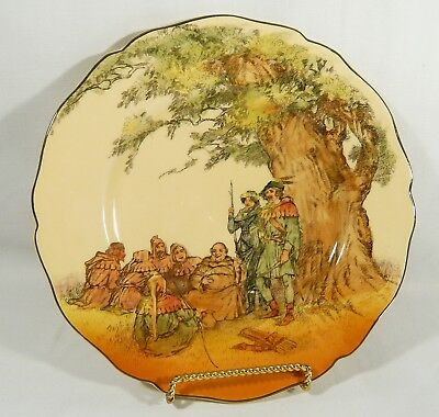 "Royal Doulton 10 3/8""  Dinner PLATE D6094 Robin Hood UNDER THE GREENWOOD TREE"