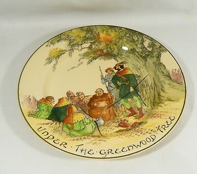 Royal Doulton Robin Hood D3751 9 1/2 inch Plate UNDER THE GREENWOOD TREE