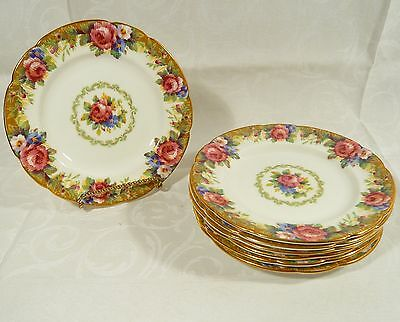 7 Paragon TAPESTRY ROSE Bread / Side PLATES 6 1/4  inch