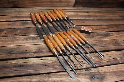 Bulk Vintage Marples Chisels Old Woodworking Tools Carving Steel Gouge