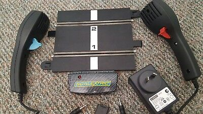 -Scalextrc SPORT Power Base, Power Supply & Controllers in GOOD condition.