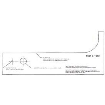 Full Size Chevy Rear Antenna Template, 1961-1962 40-142065-1