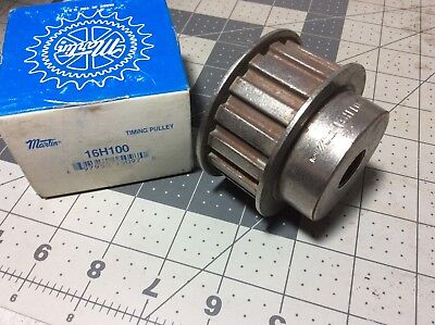 "Martin Timing Pulley 16H100 Bore 5/8"" Nib #r845"