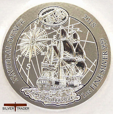 2018 Rwanda Nautical Series 1 oz Endeavour Silver Bullion Coin unc: