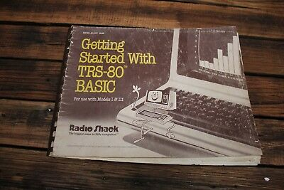 Vintage Tandy TRS-80 Getting Started Computer Radio Shack Instruction Manual