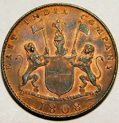1808 British East India Company  X Cash Almost Uncirculated ? Luster A30-509