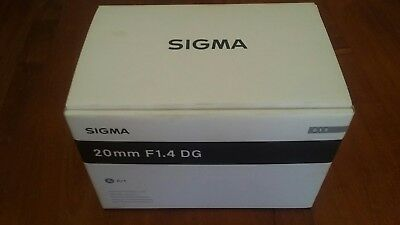 sigma 20mm f1.4 for canon - used, damaged
