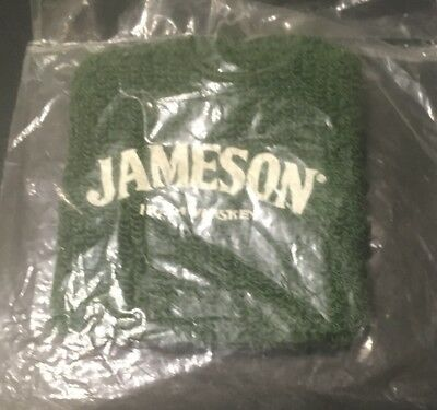 Green Jameson Irish Whiskey Wrist Sweatband. New!