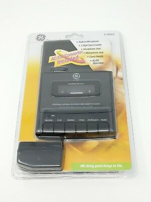 GE Cassette Recorder 3-5027 personal Portable Recorder Player General Electric