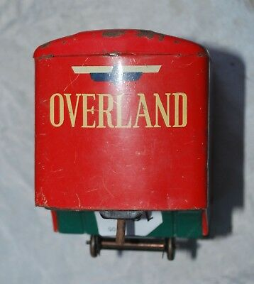 Old Rare Vintage Metal Tin Toy  Parts Antique Overland Freight Trailer Rig Semi