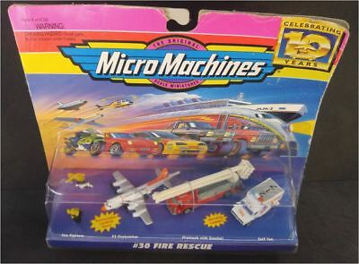 MicroMachines #30 Fire Rescue with Working Ladder and Doors NIB
