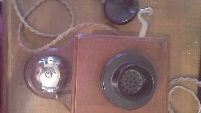 antique timber phone