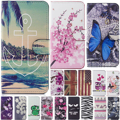 For Huawei Y6 Y9 2018 P20 Mate10 Lite PU Leather Wallet Case Mask Phone Cove