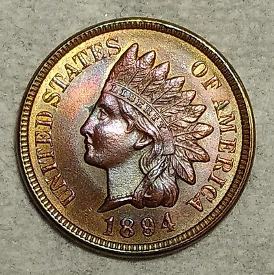 Brilliant Uncirculated 1894 Indian Head Cent! Stunning, sought after specimen!