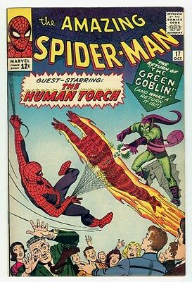 Amazing Spider-man #17 NM 9.4 OW Pages 1964 Marvel silver age 2nd Green Goblin