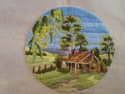 Completed Semco Long Stitch  Of Wattle Tree Gully 29 Cms. Aperture