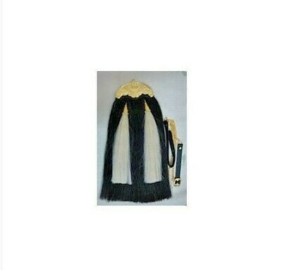Original Long Horse Hair Sporran. With Gold Plated Cantle Chain Belt.
