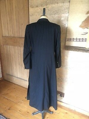 Amazing Late 90s Vintage Escada Pinstripe Pure Wool Coat size 14