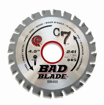 KwikTool USA BB450 C7 Bad Blade 4-1/2-Inch 24 Tooth with 1-Inch Arbor And