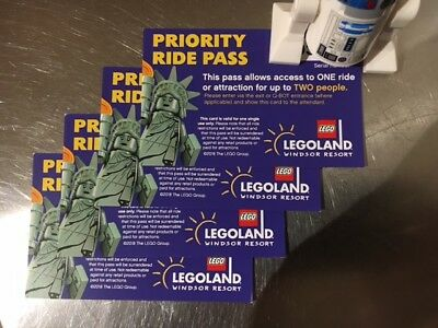 Legoland Windsor Priority Ride Pass x 4 similar to fast track