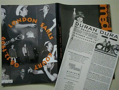 Duran Duran - Medazzaland Magazine - Overnight Sensation Live in London