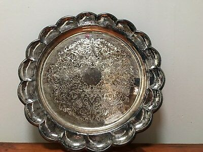 decorative ornate metal tray - Heatherdale by Stokes - with original box